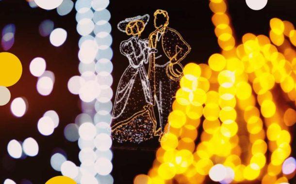 Świąteczna iluminacja w Łazienkach Królewskich